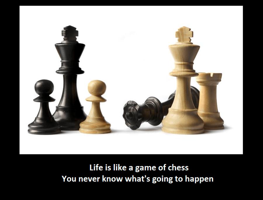 Hayır! Sadece satranç, satranç gibidir!