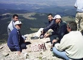 Ilgaz'ın zirvesinde satranç keyfi