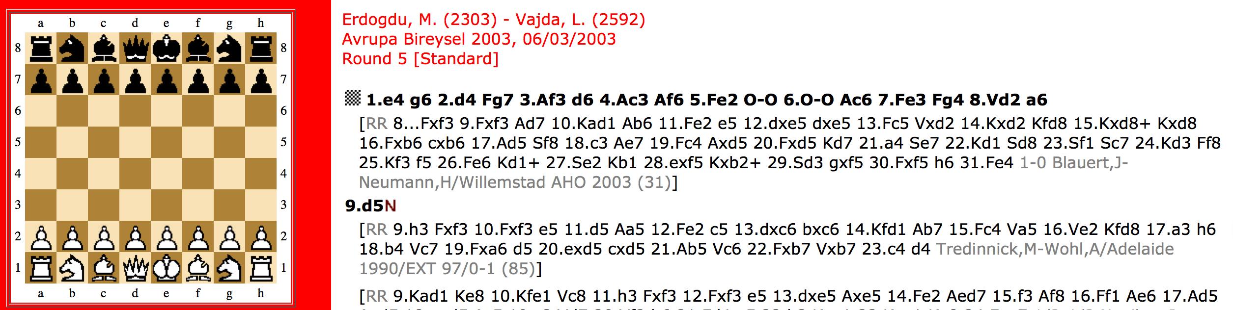 Erdoğdu – Vajda 2003