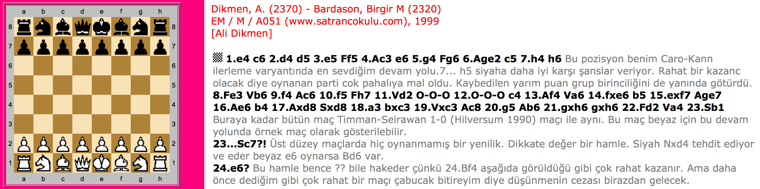 Dikmen – Bardason 1999