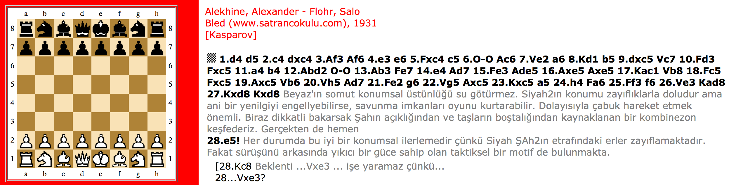 Alekhine – Flohr