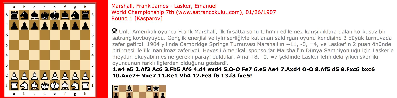 Marshall – Lasker