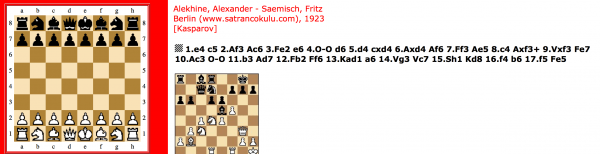 Alekhine – Saemisch