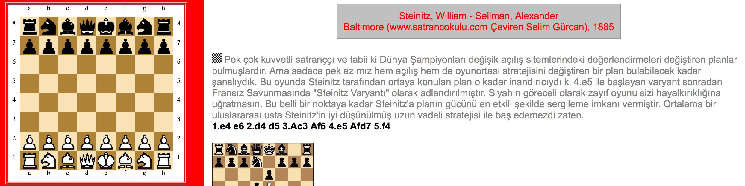 Steinitz – Sellman