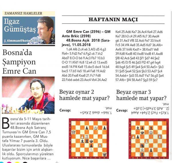 """Birgün Gazetesi'nde  """"GM Emre Can"""""""