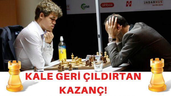 Carlsen'den Çıldırtan Kale Fedası